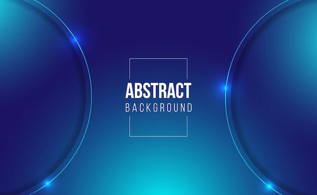 ゲームの光沢のある濃い青の抽象的なグラデーションの背景