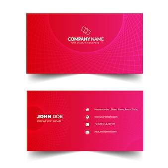 エレガントなコーポレートビジネスカード