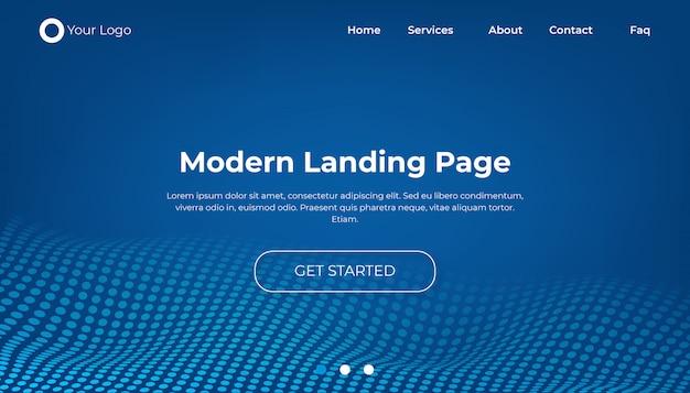 最新のウェブサイトのランディングページのデザイン