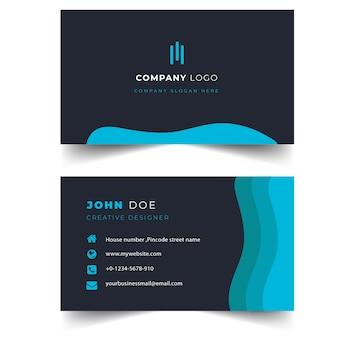 Элегантный и современный черный профессиональный шаблон визитной карточки