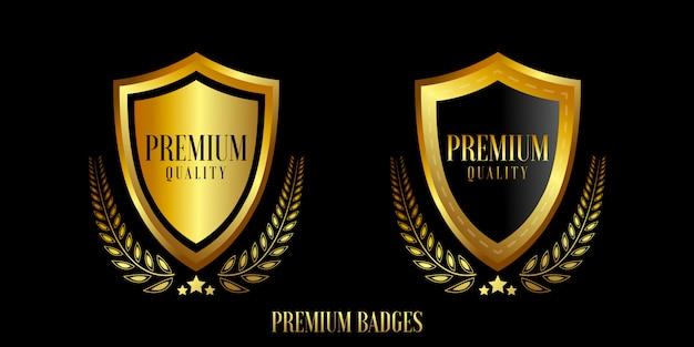 ゴールドバッジとラベルのプレミアム品質をシール