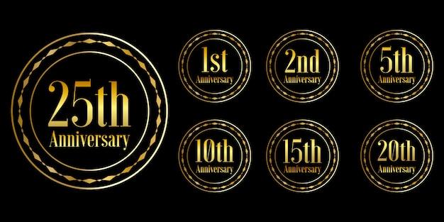 Золотой дизайн празднования годовщины