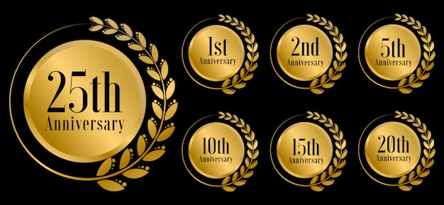 Празднование золотой годовщины комплект премиум
