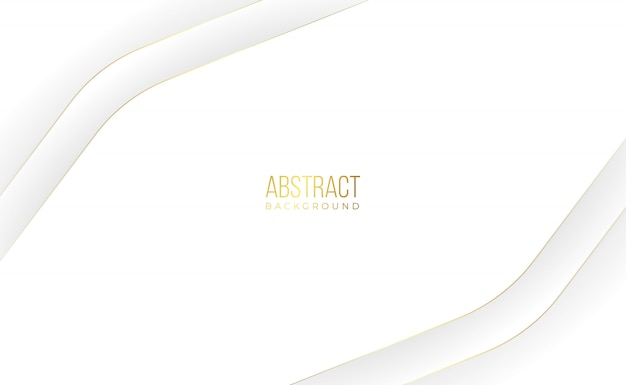 Современный белый золотой абстрактный фон