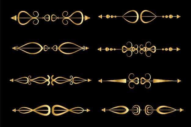 Набор золотых рамок