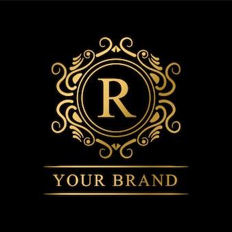 Роскошный логотип бренда