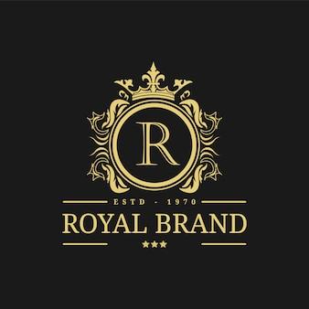 Королевский логотип дизайн шаблона векторные иллюстрации.