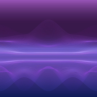 ダイナミックライン波抽象的な背景