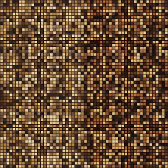ゴールドモザイクハーフトーン抽象的な背景