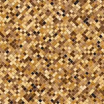 ゴールドスクエアハーフトーン抽象的な背景