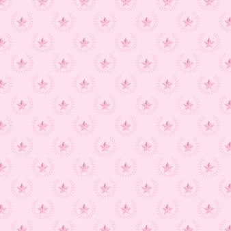 スターと月桂樹の花柄の背景