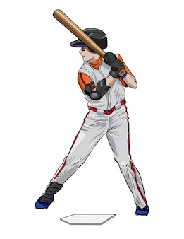 野球打者アスリート