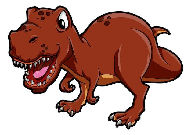 Тиранозавр готов к атаке