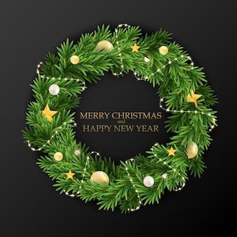 抽象的な休日の新年とメリークリスマスのグリーティングカード