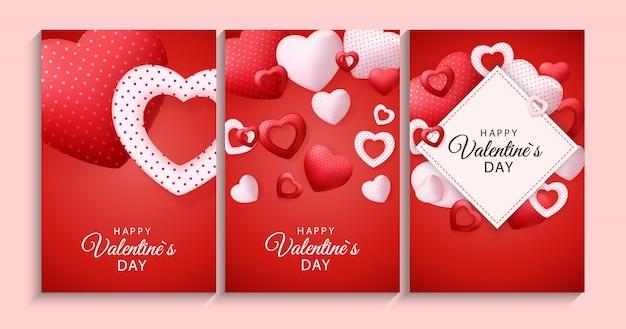 心で幸せなバレンタインデーカード