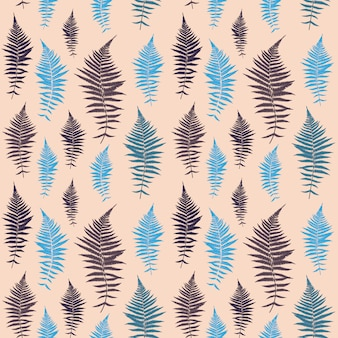 シダの葉のベクトルシダの葉のベクトルのシームレスパターン