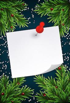 抽象的な休日新年とメモとメリークリスマス