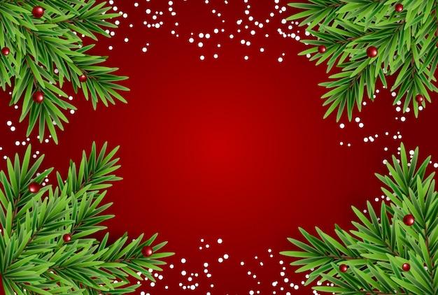 抽象的な休日新年とメリークリスマスフレームの背景