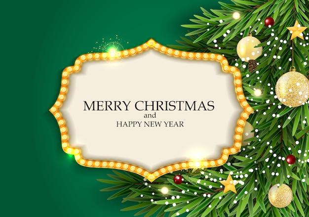 抽象的な休日の新年とメリークリスマスの背景。