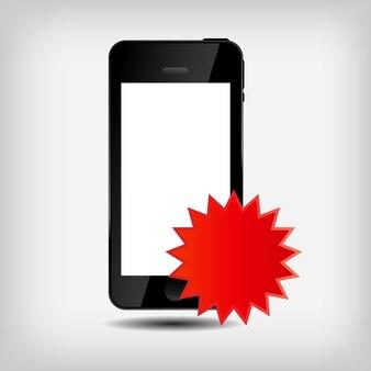 抽象的な携帯電話の図