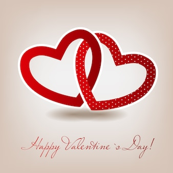 Счастливая карта дня святого валентина с сердцем.