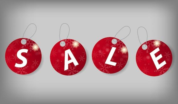 Набор рождественских продажи тегов.
