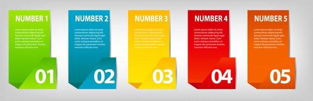 インフォグラフィックデザイン要素の図