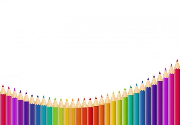 抽象的な鉛筆の背景イラスト