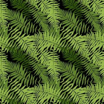 シダの葉シダの葉のシームレスパターン