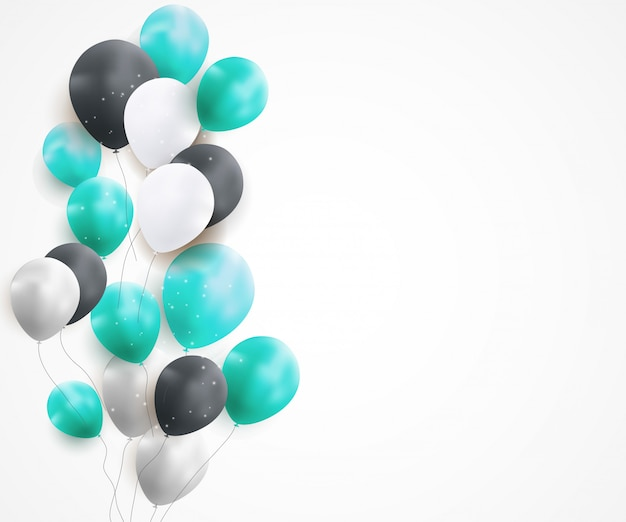 光沢のある誕生日用風船の背景