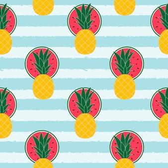 トロピカルフルーツ柄の背景