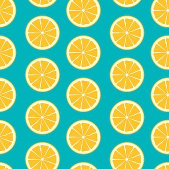 抽象的な柑橘類のシームレスなパターン背景
