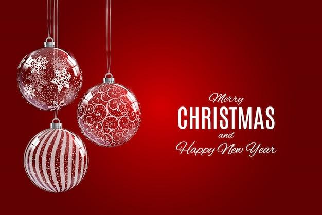 メリークリスマスと幸せな新年のポスター
