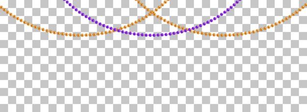 ボール付きの紐の花輪