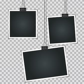 空白のインスタント写真セット
