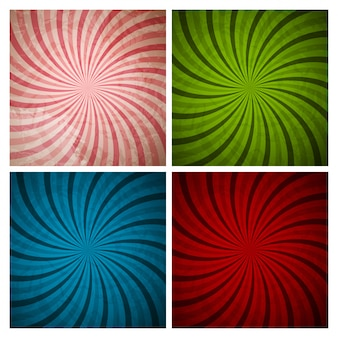 抽象的な催眠術の背景コレクションセット。