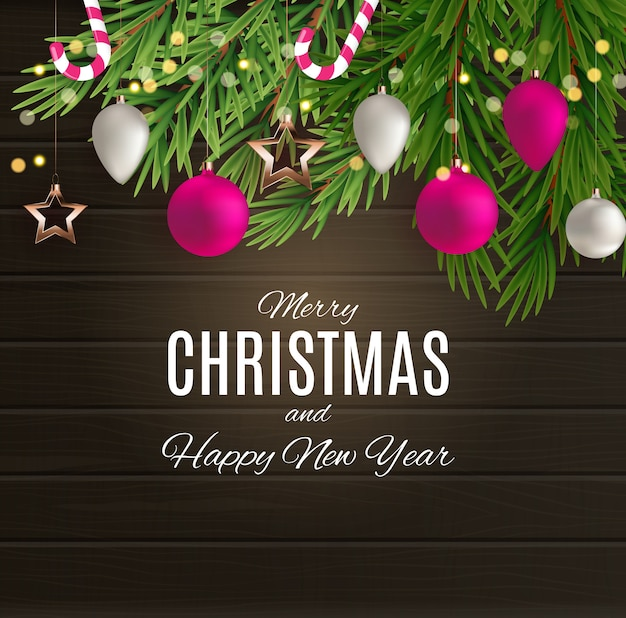 メリークリスマスと幸せな新年のポスター。