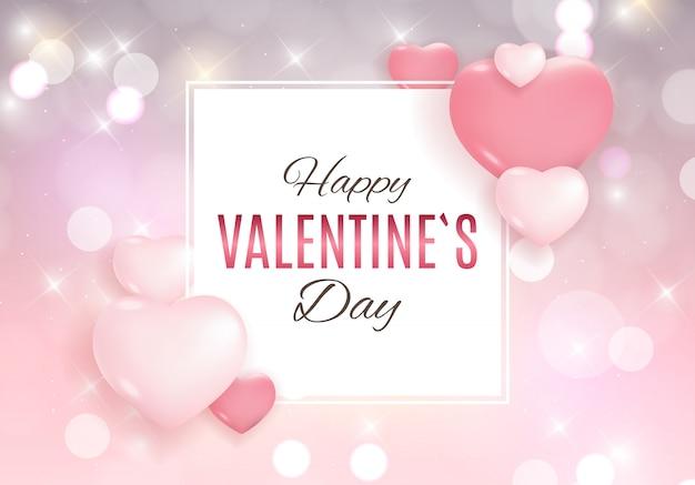 バレンタインデーの愛と感情の背景デザイン。