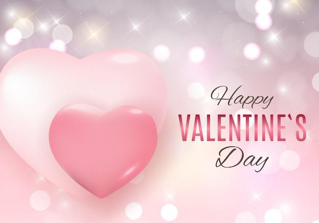 バレンタインデーの愛と感情の背景