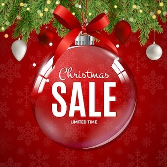 Рождественская распродажа баннер