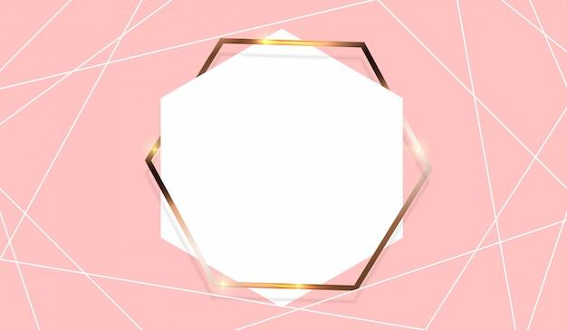 Абстрактный фон с золотой рамкой шаблон.