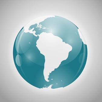 南アメリカの地球
