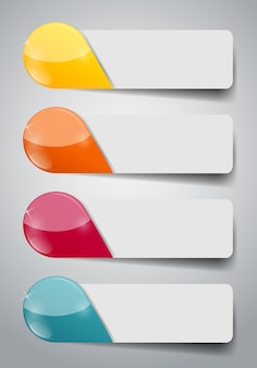 Инфографики бизнес шаблон с четырьмя шагами