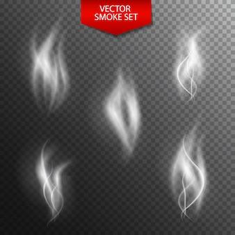 暗い透明の自然な煙。イラスト