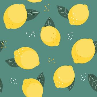 抽象的なレモンのシームレスなパターン図