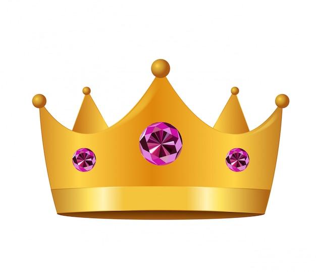 プリンセスクラウンアイコン。図。