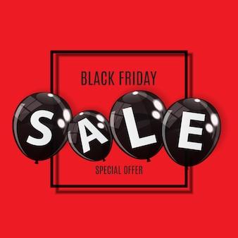 Черная пятница продажа шар концепции скидок. специальное предложение