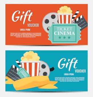 Шаблон подарочного купона для вашего бизнеса. иллюстрация
