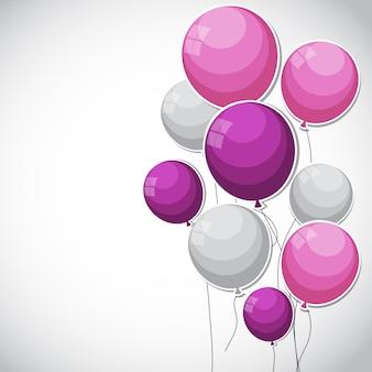 Цветные глянцевые шары фоновой иллюстрации