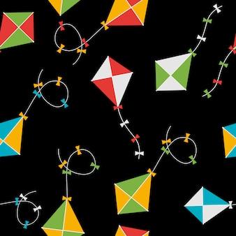 Кайт бесшовные шаблон фона иллюстрация